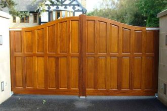 Large double gate for house